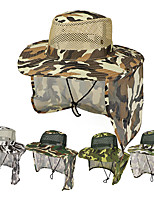 cheap -Men's Quick Dry Breathability Comfortable Sun Protection Camo Spring, Fall, Winter, Summer Terylene Hunting Fishing Camping / Hiking / Caving Everyday Use Yellow Army Green Dark Green Green Gray+White