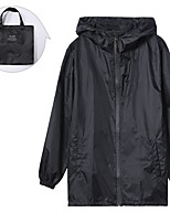 cheap -Women's Rain Poncho Waterproof Hiking Jacket Rain Jacket Outdoor Solid Color Waterproof Portable Lightweight Breathable Raincoat Poncho Top Fishing Running Camping / Hiking / Caving Black Grey Orange