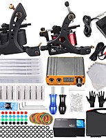 cheap -Embroidery Dragon Cross-border Coil Tattoo Machine Set full Set of Secant Line And Fog Double Machine Tattoo Set Tattoo Equipment