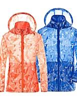 cheap -Men's Waterproof Hiking Jacket Hiking Skin Jacket Hiking Windbreaker Outdoor Packable Waterproof Lightweight UV Sun Protection Jacket Hoodie Top Full Length Visible Zipper Fishing Climbing Running