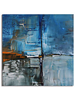 cheap -Hand Painted Canvas Oil Paintings Modern Art Abstract Stretched Squre Abstract Artwork Ready to Hang