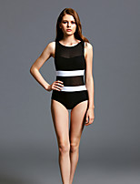 cheap -Women's One Piece Swimsuit Elastane Swimwear Breathable Quick Dry Sleeveless Swimming Surfing Water Sports Patchwork Summer