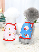 cheap -Dog Cat Shirt / T-Shirt Vest Smile Face Basic Adorable Cute Dailywear Casual / Daily Dog Clothes Puppy Clothes Dog Outfits Breathable White Black Blue Costume for Girl and Boy Dog Polyster S M L XL