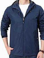 cheap -Men's Waterproof Hiking Jacket Rain Jacket Raincoat Top Outdoor Waterproof Lightweight Windproof Breathable Autumn / Fall Spring Black Yellow Navy Blue Fishing Climbing Camping / Hiking / Caving