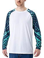 cheap -Men's T shirt Hiking Tee shirt Long Sleeve Tee Tshirt Top Outdoor Lightweight Breathable Quick Dry Sweat wicking Spring Summer White Black Gray Fishing Climbing Camping / Hiking / Caving