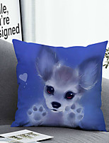 cheap -1 Pc Cushion Cover with or without Pillow Insert Double Side Print Animal 38x38cm / 45x45cm Polyester