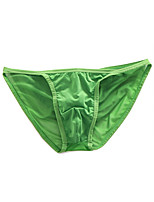 cheap -Men's 1 Piece Basic Briefs Underwear - Normal Low Waist Green S M L