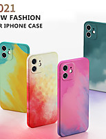 cheap -Original Painted Silicone Luxury Case For Apple iPhone 12 11 Pro Max Mini SE 2020 X Xr Xs Max 7 8 plus Square Shockproof Cover