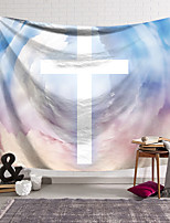 cheap -Wall Tapestry Art Decor Blanket Curtain Hanging Home Bedroom Living Room Decoration Polyester Cross Badge White Color Background