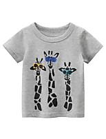 cheap -Kids Boys' T shirt Tee Graphic Animal Print Short Sleeve Streetwear Gray