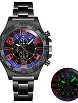cheap -Men's Steel Band Watches Quartz Modern Style Altimeter Analog Black Blue Red / One Year / Titanium Alloy