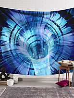 cheap -Wall Tapestry Art Decor Blanket Curtain Hanging Home Bedroom Living Room Decoration Polyester Blue Space Transmission