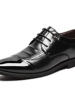 cheap -Men's Oxfords Business Casual Daily Office & Career Walking Shoes PU Wear Proof Black Fall Spring