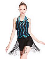 cheap -Latin Dance Hair Jewelry Tassel Paillette Women's Training Performance Sleeveless Chinlon Lycra