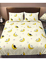 cheap -Cartoon Bear 3-Piece Duvet Cover Set Hotel Bedding Sets Comforter Cover with Soft Lightweight Microfiber, Include 1 Duvet Cover, 2 Pillowcases for Double/Queen/King(1 Pillowcase for Twin/Single)