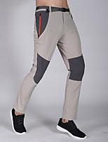 cheap -Men's Hiking Pants Trousers Patchwork Outdoor Waterproof Windproof Breathable Quick Dry Elastane Bottoms Dark Gray Light Grey Dark Blue Hunting Fishing Climbing M L XL XXL XXXL / Zipper Pocket