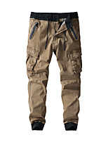 cheap -Men's Hiking Pants Trousers Hiking Cargo Pants Solid Color Outdoor Breathable Thick Anti-tear Multi-Pockets Cotton Bottoms Black Army Green Khaki Dark Blue Hunting Fishing Climbing 28 30 36 38 32