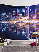 cheap -Wall Tapestry Art Decor Blanket Curtain Hanging Home Bedroom Living Room Decoration Polyester City Night View Neon Lights