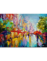 cheap -Hand Painted Canvas Oil Paintings Modern Art Abstract Landscape Stretched Abstract Artwork Ready to Hang