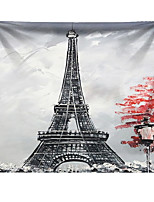 cheap -Wall Tapestry Art Decor Blanket Curtain Hanging Home Bedroom Living Room Decoration Polyester Black Paris Eiffel Tower