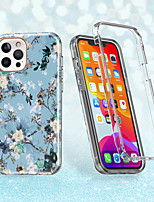 cheap -Blue Flowers Case For iPhone 12 12mini 12Pro max iPhone 11 11Pro  11Pro max iPhone SE X XS XR XSMAX Shockproof / Pattern Back Cover Butterfly / Flower TPU  Case for iPhone 8plus 7plus