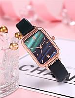cheap -Women's Quartz Watches Quartz Stylish Vintage Color Gradient Analog - Digital White Black Red / PU Leather
