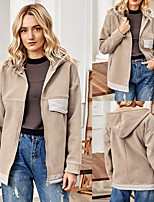cheap -Women's Coat Zipper Patchwork Hoodie Sport Athleisure Jacket Long Sleeve Breathable Soft Comfortable Everyday Use Casual Daily Outdoor / Winter