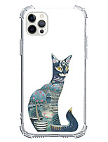 cheap -Catus Animal Case For Apple iPhone 12 iPhone 11 iPhone 12 Pro Max Unique Design Protective Case Shockproof Pattern Back Cover TPU