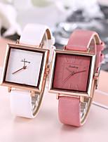 cheap -Women's Quartz Watches Quartz Stylish Elegant Large Dial Analog White Blushing Pink Green / PU Leather