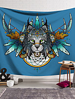 cheap -Wall Tapestry Art Decor Blanket Curtain Hanging Home Bedroom Living Room Decoration Polyester Leopard Head