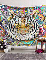 cheap -Wall Tapestry Art Decor Blanket Curtain Hanging Home Bedroom Living Room Decoration Polyester Color Tiger Fantasy
