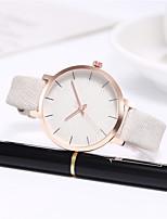 cheap -Women's Quartz Watches Quartz Stylish Elegant Creative Analog White Black Purple / PU Leather