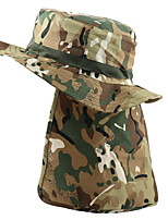 cheap -Men's Sun Hat Fishing Hat Hiking Hat Outdoor UV Sun Protection Windproof UPF50+ Quick Dry Spring Summer Hunting Ski / Snowboard Fishing Jungle camouflage Digital Desert Brown camouflage / Breathable