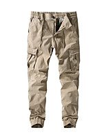 cheap -Men's Hiking Pants Trousers Hiking Cargo Pants Solid Color Winter Outdoor Thick Anti-tear Multi-Pockets Wear Resistance Cotton Bottoms Black Army Green Khaki Dark Blue Hunting Fishing Climbing 30 32