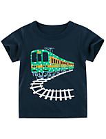 cheap -Kids Boys' T shirt Tee Graphic Print Short Sleeve Streetwear Blue