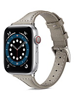 cheap -Watch Band for  Apple Watch Series 6 / SE / 5/4 / 3/2/1 44mm 40mm  42mm 38mm Apple Business Band Genuine Leather Wrist Strap