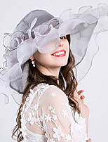cheap -Vintage Style Elegant Tulle / Organza / Polyester / Polyamide Hats / Headwear / Straw Hats with Feather / Appliques / Flower 1 Piece Casual / Holiday Headpiece