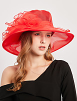 cheap -Lace Organza / Poly / Cotton Blend Headwear with Cascading Ruffles / Flower 1 Piece Casual / Holiday Headpiece