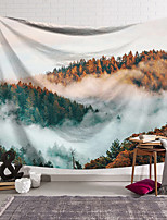 cheap -Wall Tapestry Art Decor Blanket Curtain Hanging Home Bedroom Living Room Decoration Polyester Sea of Clouds Forest Sunshine