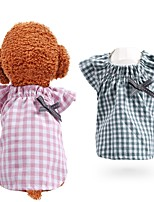 cheap -Dog Cat Shirt / T-Shirt Bowknot Elegant Adorable Cute Dailywear Casual / Daily Dog Clothes Puppy Clothes Dog Outfits Breathable Pink Green Costume for Girl and Boy Dog Polyester XS S M L XL