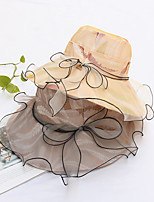 cheap -Organza Hats with Ruffles 1 Piece Party / Evening / Horse Race Headpiece