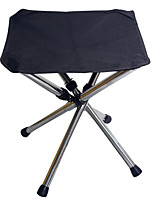 cheap -Camping Stool Tri-Leg Stool Portable Ultra Light (UL) Multifunctional Foldable Stainless Steel / Iron for 1 person Fishing Beach Camping Traveling Autumn / Fall Winter Black Red Blue Brown