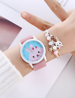 cheap -Women's Quartz Watches Analog Quartz Stylish Cartoon Creative Large Dial / Silicone