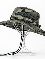 cheap -Men's Sun Hat Fishing Hat Hiking Hat Outdoor UV Sun Protection Windproof UPF50+ Quick Dry Spring Summer Hunting Ski / Snowboard Fishing Camouflage Color Army Green Camouflage / Breathable
