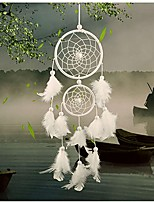 cheap -Boho Dream Catcher Handmade Gift Wall Hanging Decor Art Ornament Craft Feather 46*11cm For Kids Bedroom Wedding Festival