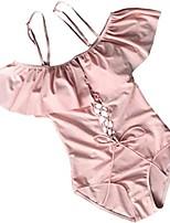cheap -Women's Bikini Swimsuit Solid Color Sapphire Blue Wine Red Black Blushing Pink Swimwear Bathing Suits Sexy