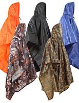 cheap -Women's Men's Rain Poncho Waterproof Hiking 3-in-1 Jacket Rain Jacket Winter Summer Outdoor Solid Color Waterproof Windproof Quick Dry Lightweight Raincoat Poncho Top Fishing Climbing Beach Black