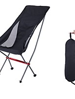 cheap -Camping Chair Multifunctional Portable Ultra Light (UL) Foldable Alloy for 1 person Fishing Beach Camping Autumn / Fall Winter Black Grey