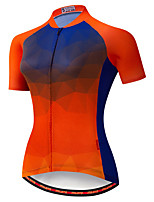 cheap -21Grams Women's Short Sleeve Cycling Jersey Spandex Red Bike Top Mountain Bike MTB Road Bike Cycling Breathable Quick Dry Sports Clothing Apparel / Stretchy / Athleisure