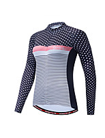 cheap -Women's Long Sleeve Cycling Jersey Red / White Red / Yellow Blue+Yellow Bike Jersey Quick Dry Sports Clothing Apparel / Micro-elastic / Athleisure